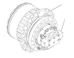 Transmissão final (redutora) para escavadoras, mini giratórias.